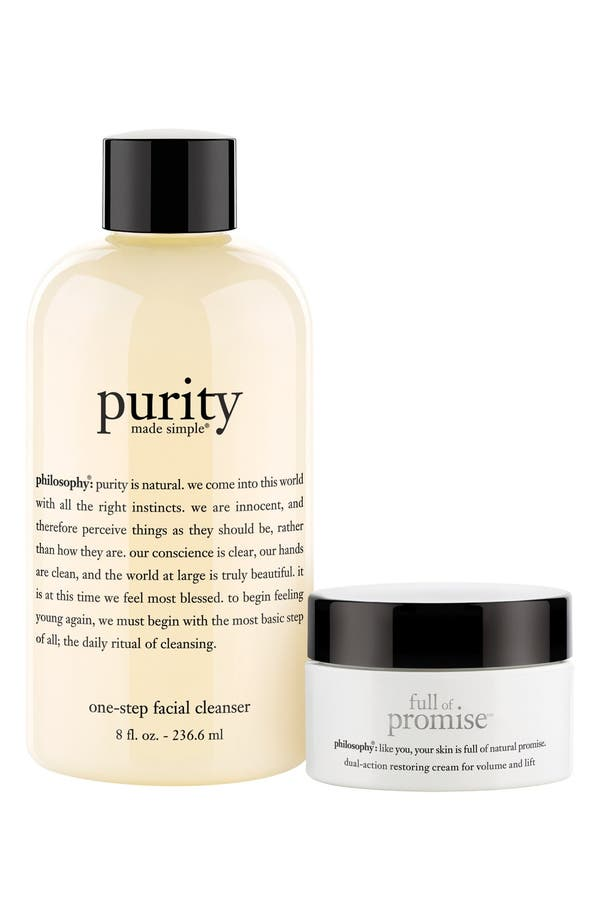 Alternate Image 1 Selected - philosophy 'purity made simple & full of promise' duo (Limited Edition) ($48 Value)