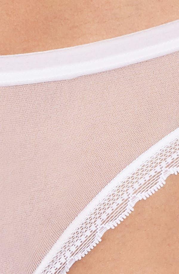 Mesh Bikini,                             Alternate thumbnail 4, color,                             White