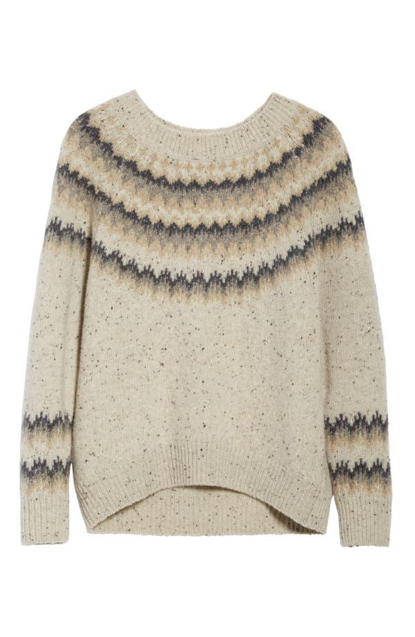 Vince Fair Isle Cashmere Sweater   Nordstrom