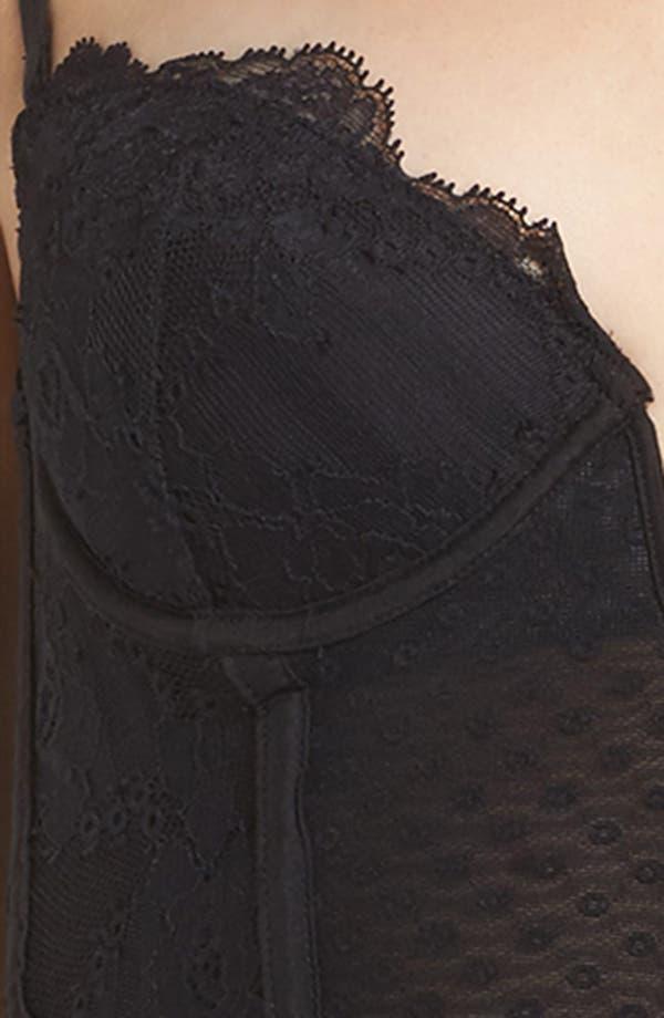 Tuberose Corset,                             Alternate thumbnail 5, color,                             Black