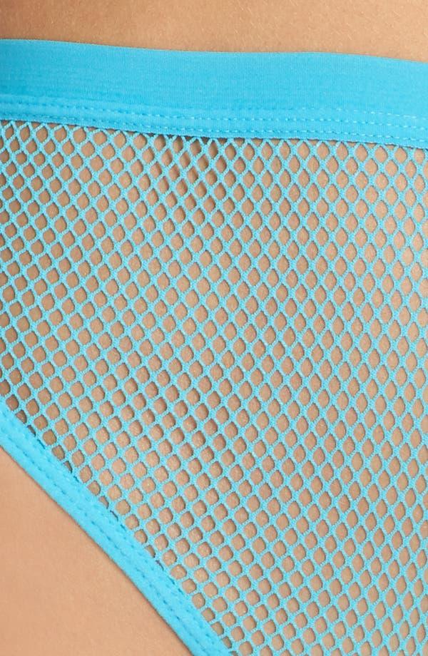 Honeydew High Waist Fishnet Panties,                             Alternate thumbnail 5, color,                             Sea Breezer