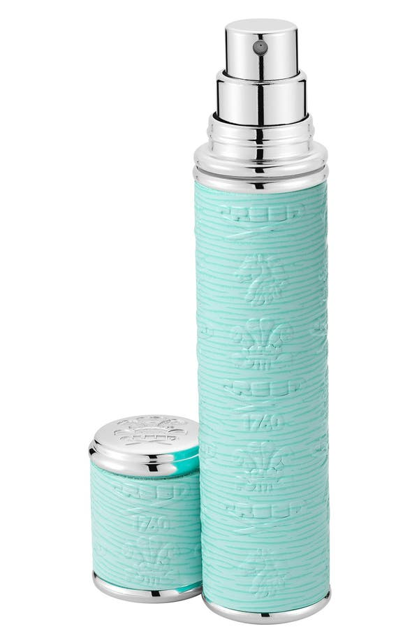 Alternate Image 1 Selected - Creed Turquoise Leather with Silver Trim Pocket Atomizer