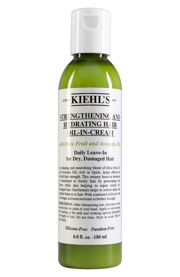 Olive Fruit Oil Strengthening and Hydrating Hair Oil-In-Cream,                         Main,                         color, No Color