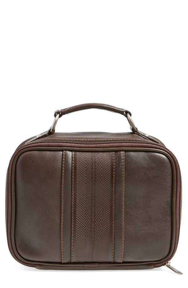 MartinDingman'Rudyard' Leather Travel Kit,                             Main thumbnail 1, color,                             Chocolate