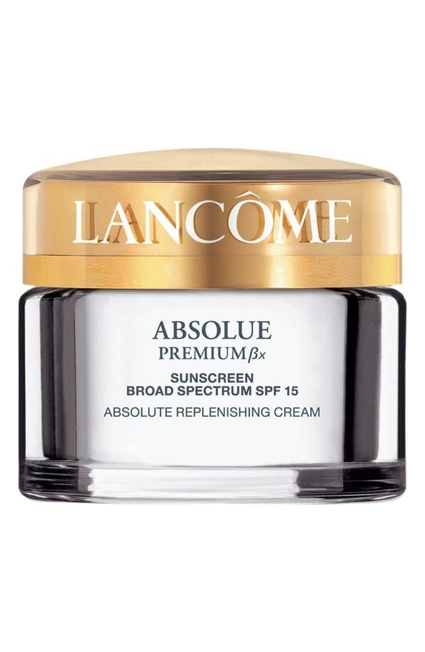 Absolue Premium ßx Absolute Replenishing Cream SPF 15,                             Main thumbnail 1, color,                             No Color