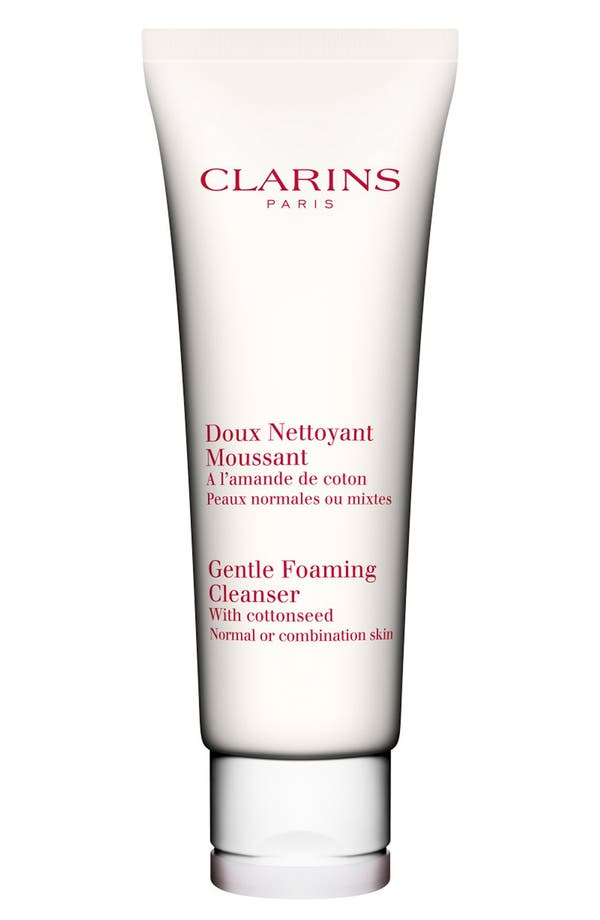 Alternate Image 1 Selected - Clarins Gentle Foaming Cleanser with Cottonseed for Normal/Combination Skin Types