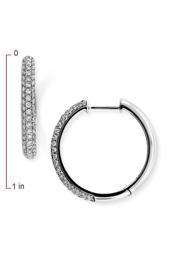 Alternate Image 2  - Bony Levy 20mm Diamond Hoop Earrings (Nordstrom Exclusive)