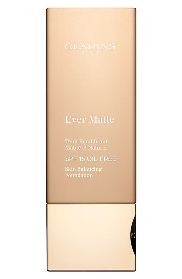 Alternate Image 1 Selected - Clarins 'Ever Matte' Foundation SPF 15