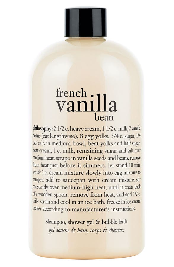 Philosophy French Vanilla Bean Shampoo Shower Gel Bubble Bath