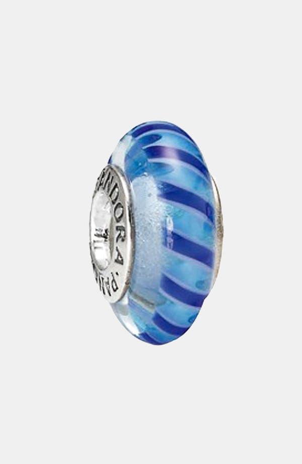Alternate Image 1 Selected - PANDORA 'Blue Stripe' Murano Glass Charm