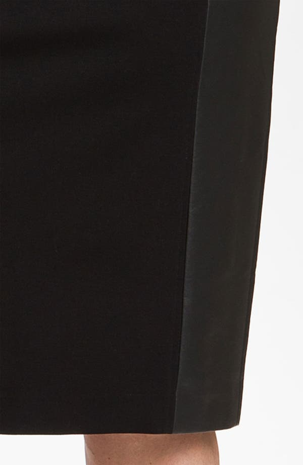 Alternate Image 3  - Sejour Ponte Knit & Faux Leather Skirt (Plus)