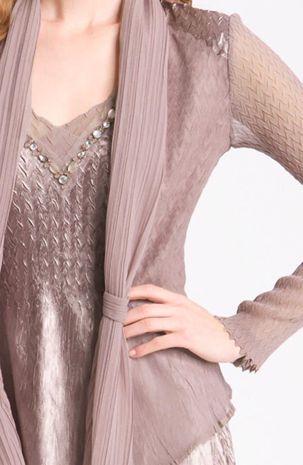 Alternate Image 4  - Komarov Pleated V-Neck Dress & Jacket