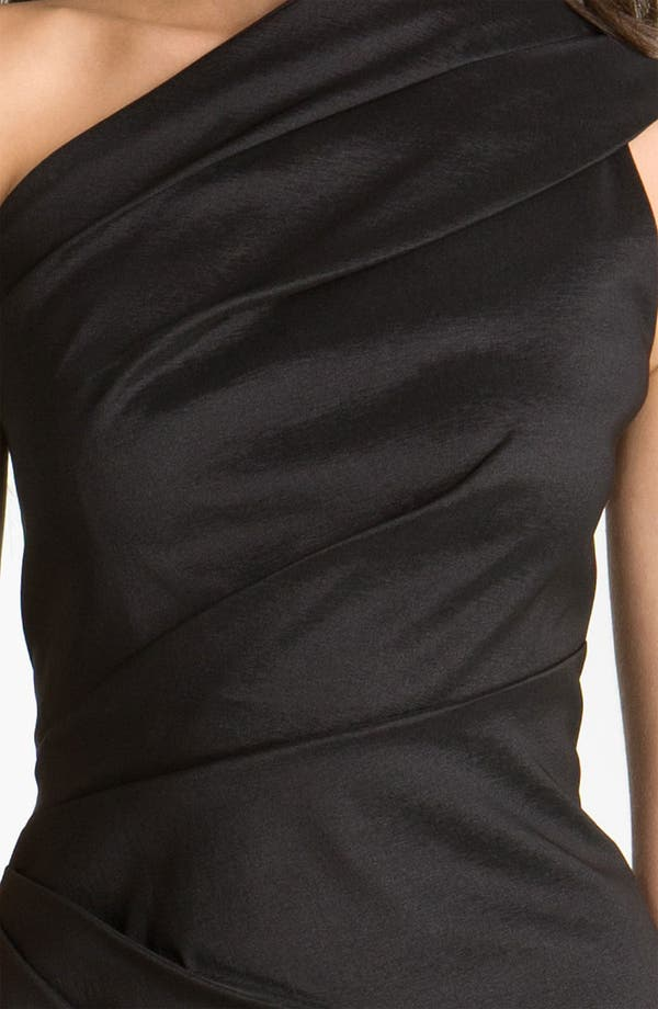 Alternate Image 3  - Eliza J One Shoulder Ruched Taffeta Sheath Dress