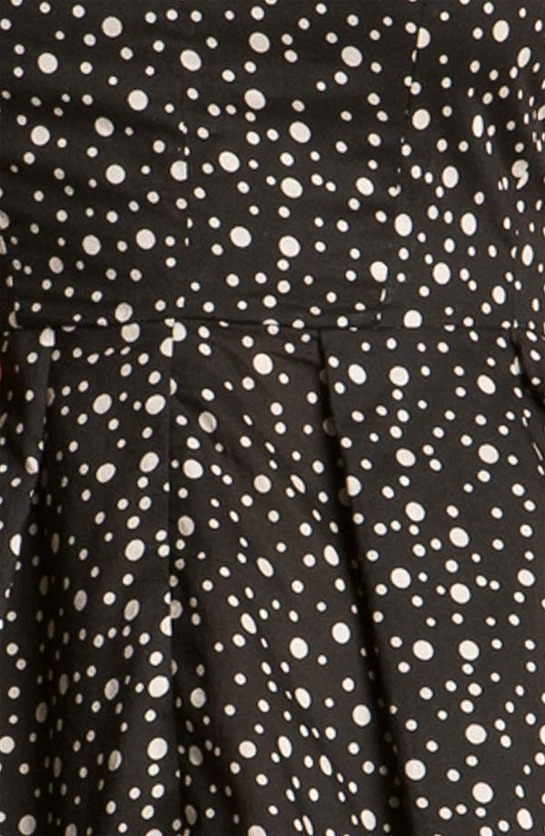 Alternate Image 3  - Taylor Dresses Polka Dot Cotton Fit & Flare Dress