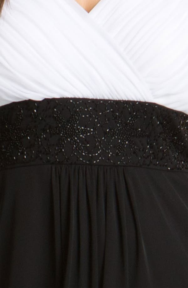Alternate Image 3  - Alex Evenings Beaded Surplice Dress (Plus)