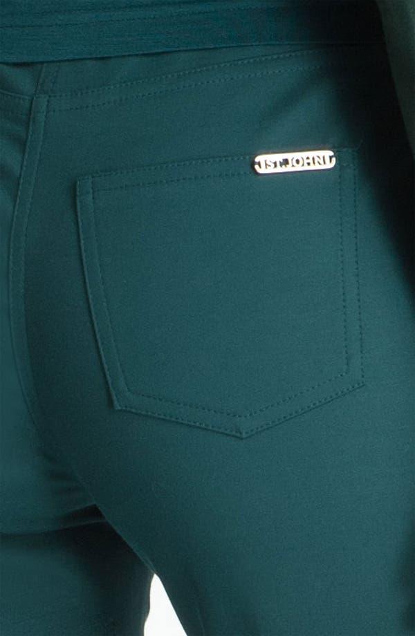 Alternate Image 3  - St. John Yellow Label Straight Leg Twill Pants