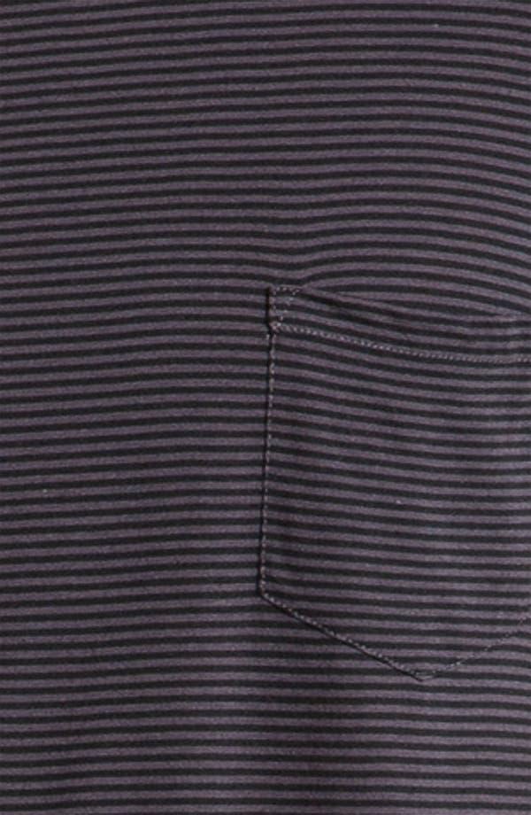 Alternate Image 2  - Daniel Buchler Lightweight Cotton/Modal Stripe V-Neck T-Shirt
