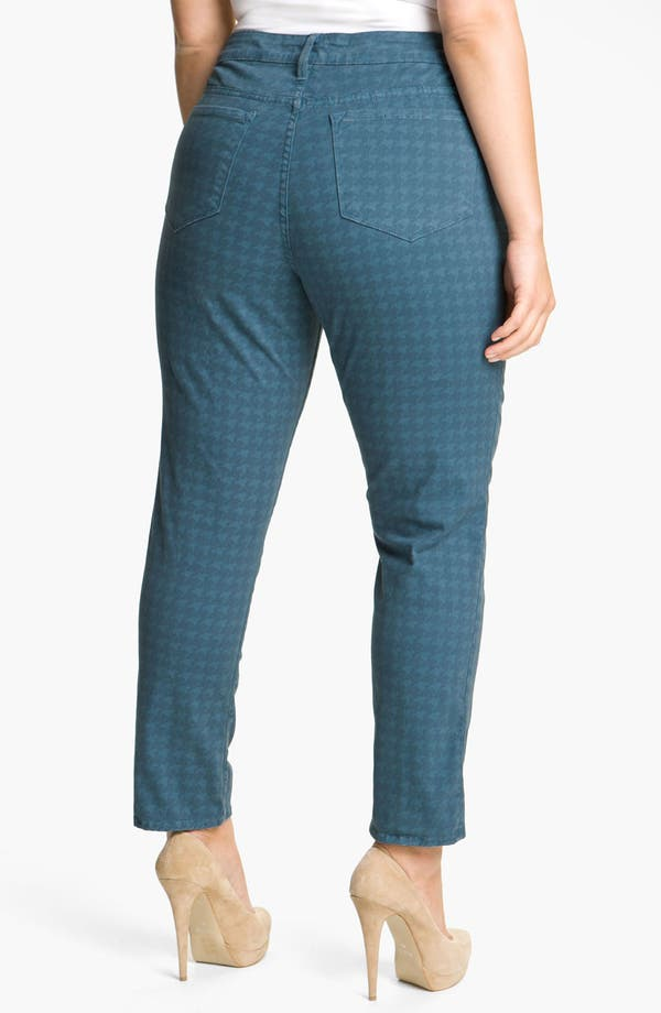 Alternate Image 1 Selected - Blue Essence Houndstooth Twill Jeans (Plus)