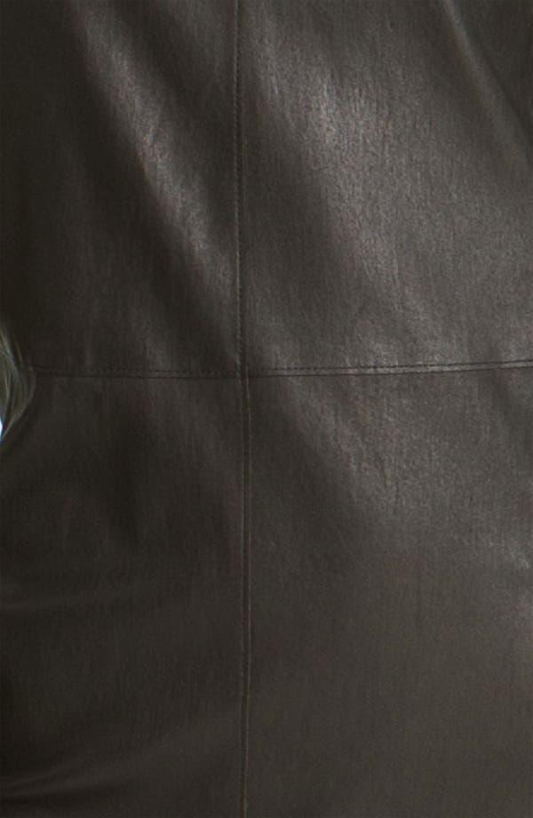 Alternate Image 3  - Vince Stretch Leather Sheath Dress