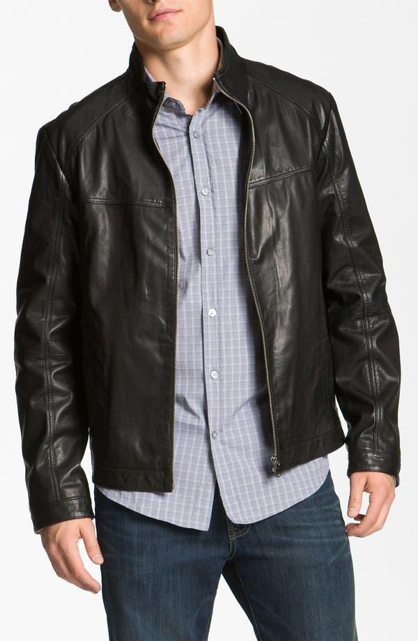 Alternate Image 1 Selected - BOSS Black 'Adillon' Leather Jacket