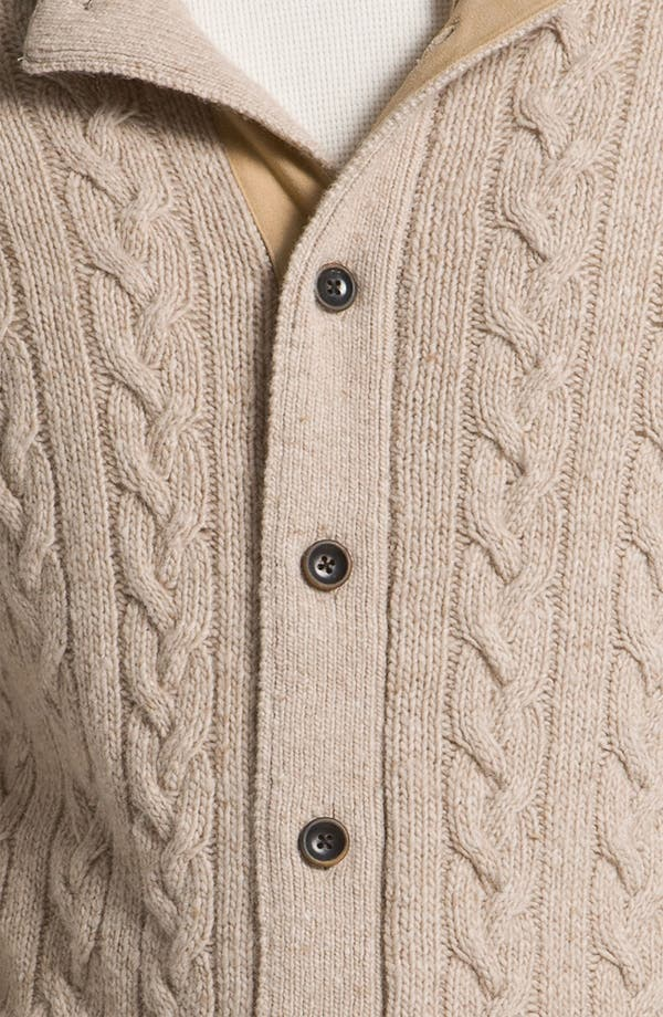 Alternate Image 3  - Hickey Freeman Cable Knit Merino Wool Blend Cardigan