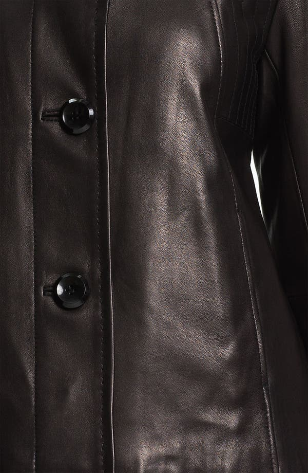 Alternate Image 3  - Ellen Tracy Button Up Leather Jacket (Nordstrom Exclusive)