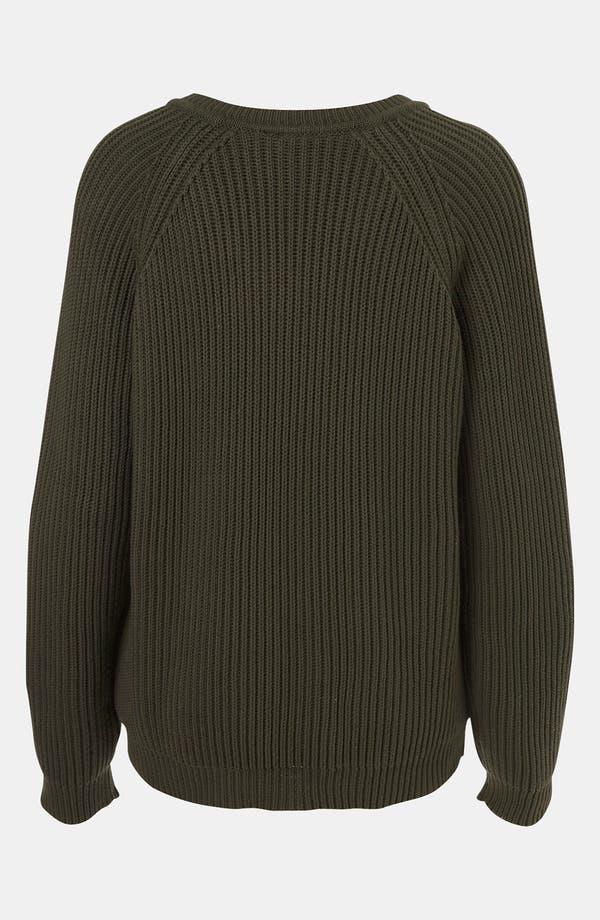 Alternate Image 2  - Topshop Boutique Ribbed V-Neck Sweater