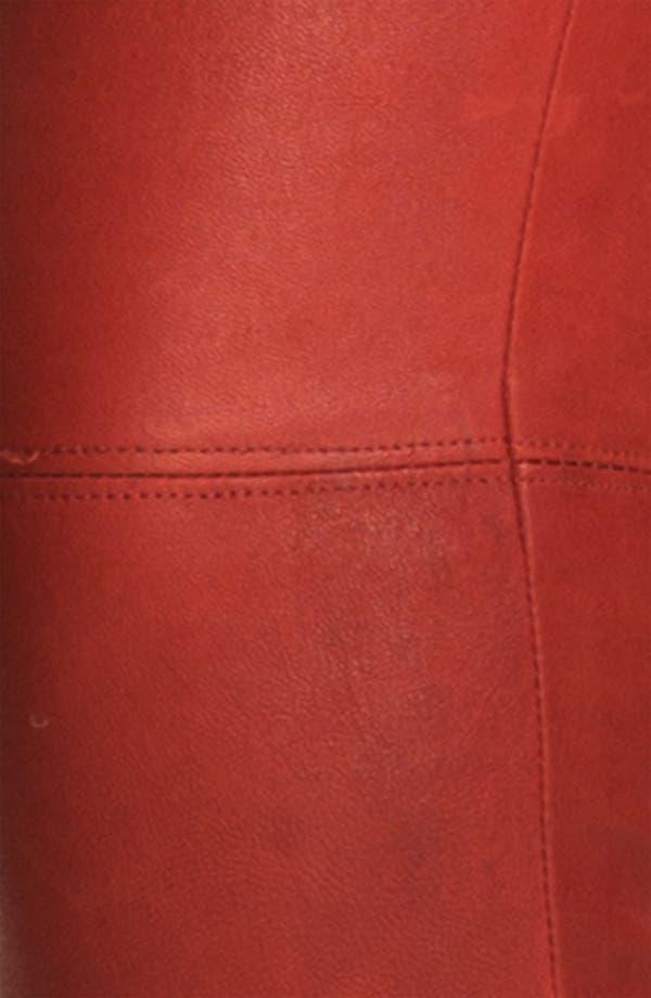 Alternate Image 3  - Alice + Olivia Skinny Lambskin Leather Leggings