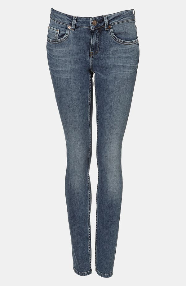 Main Image - Topshop Moto 'Baxter' Skinny Jeans (Midstone)