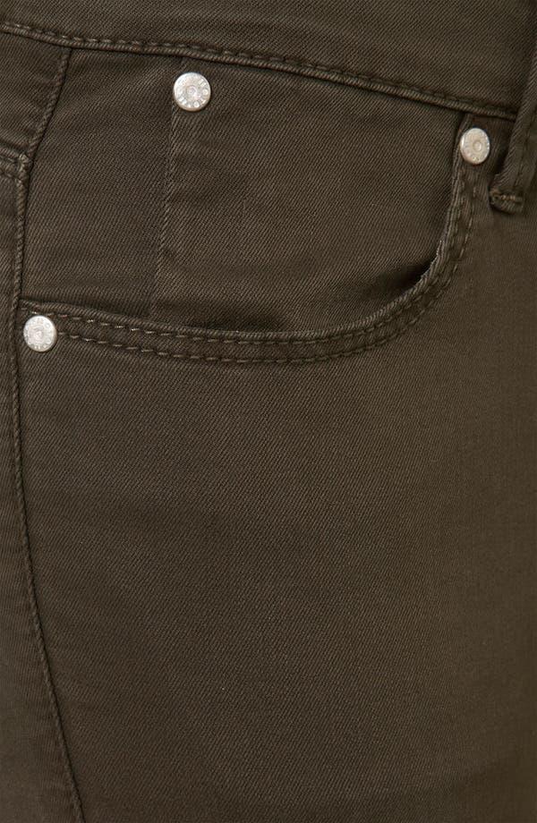 Alternate Image 3  - Topshop Moto 'Leigh' Skinny Jeans (Dark Khaki)