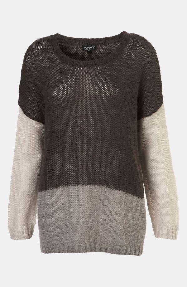 Alternate Image 1 Selected - Topshop Colorblock Sweater