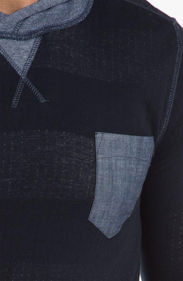 Alternate Image 3  - J.C. Rags Extra Trim Fit Reversible Hoodie