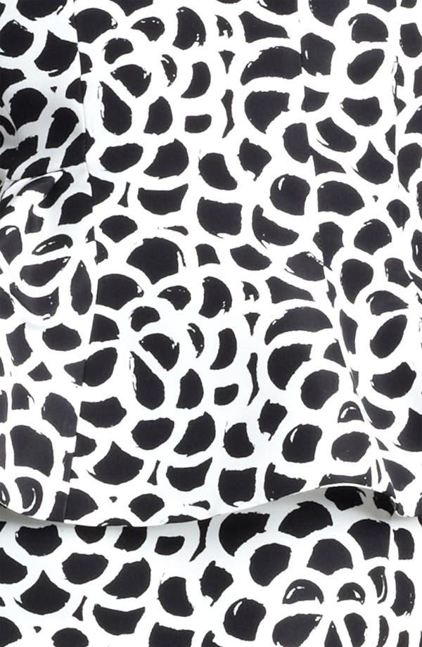 Alternate Image 3  - Oscar de la Renta Print Silk Faille Dress