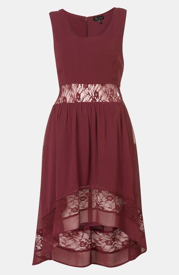 Main Image - Topshop Lace Inset Dress