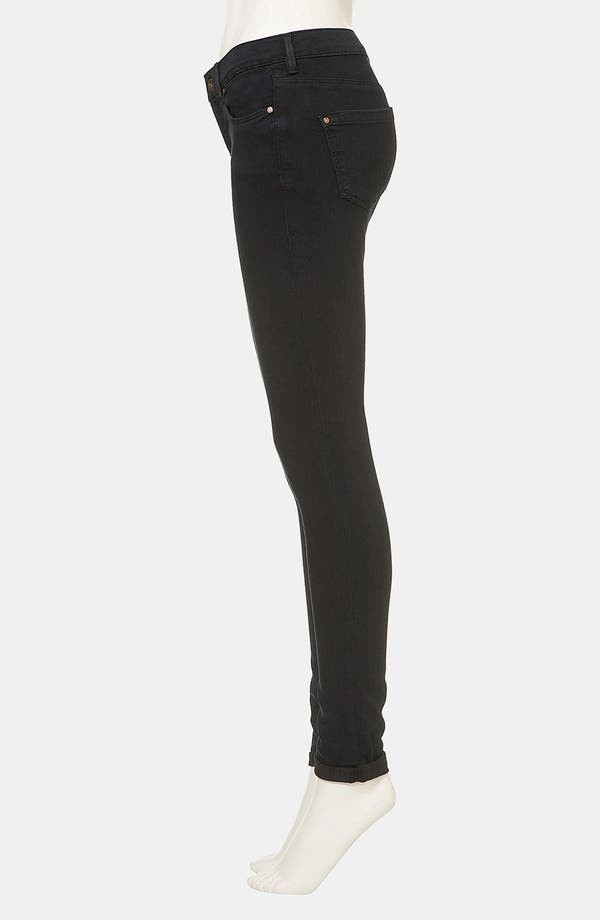 Alternate Image 4  - Topshop Moto 'Leigh' Skinny Jeans (Blue Black)