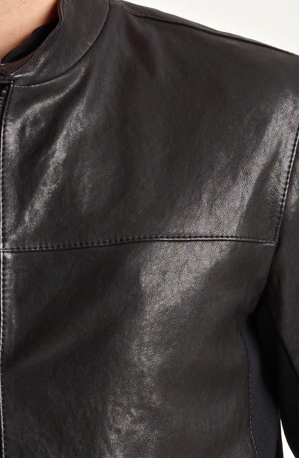 Alternate Image 4  - Armani Collezioni Leather Moto Jacket