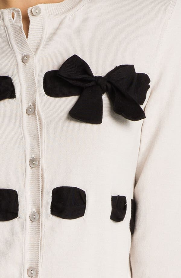 Alternate Image 3  - RED Valentino Ribbon & Bow Detail Cardigan