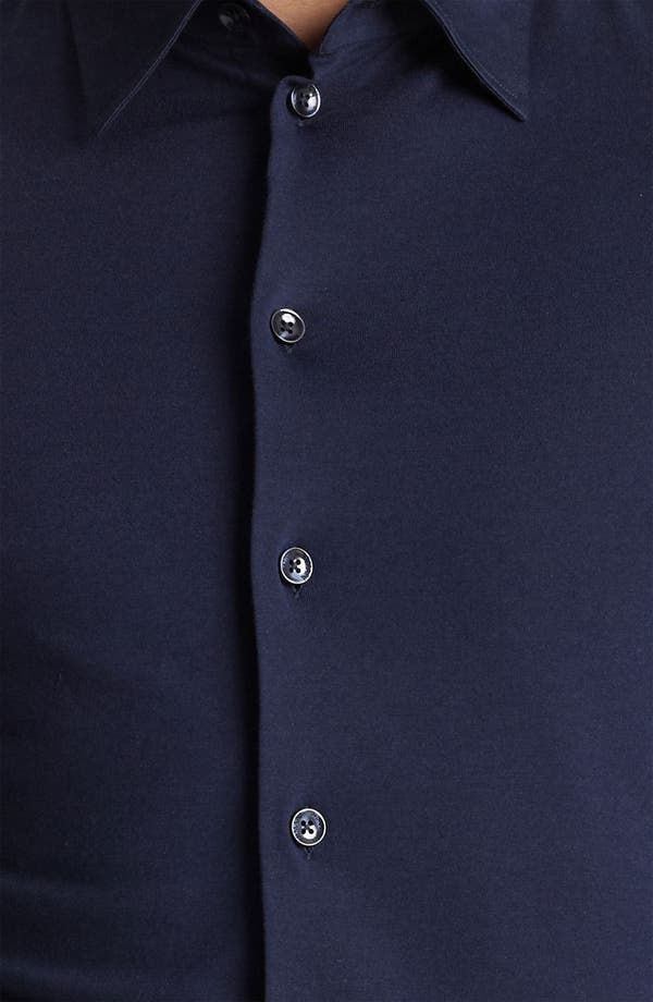 Alternate Image 3  - Armani Collezioni Jersey Cotton Sport Shirt