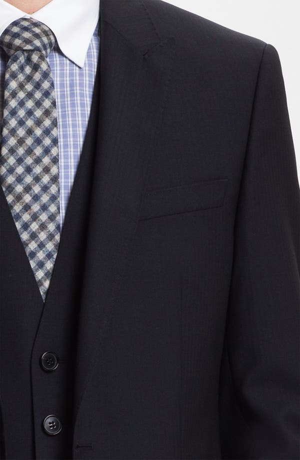 Alternate Image 5  - BOSS Black 'Hold/Genius' Trim Fit Three Piece Suit