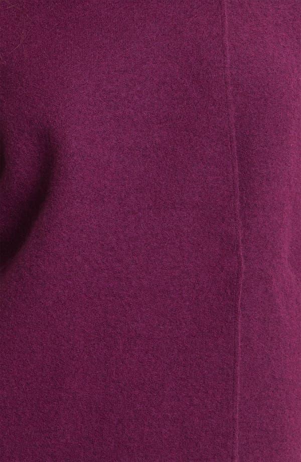Alternate Image 3  - Eileen Fisher Funnel Neck Boiled Wool Coat (Petite)