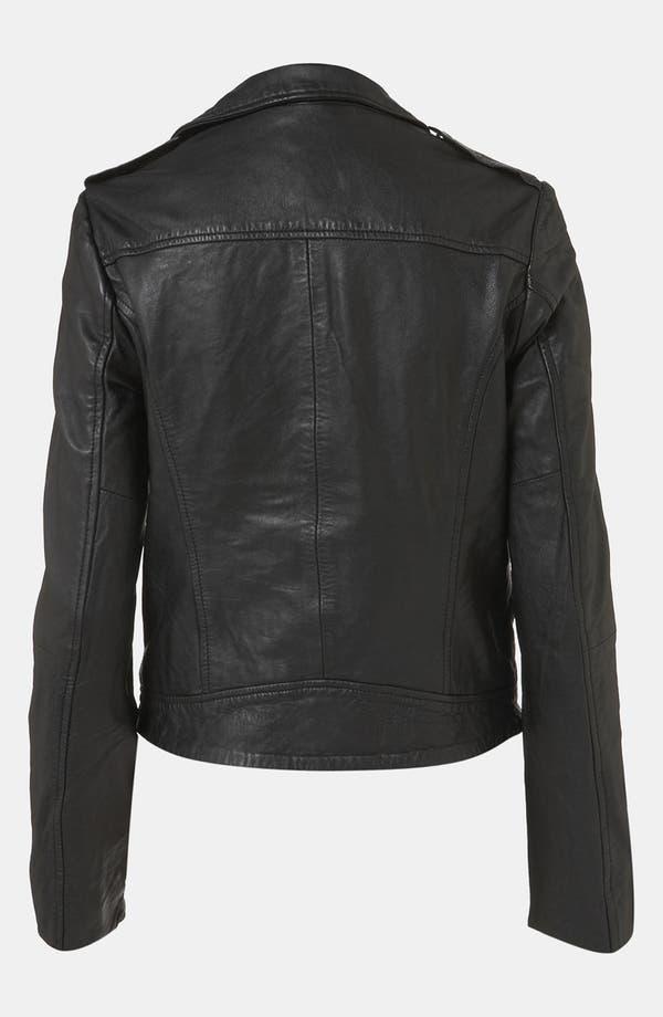 Alternate Image 2  - Topshop 'Winston' Leather Biker Jacket