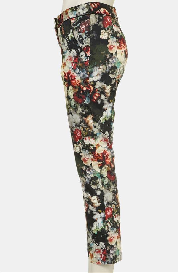 Alternate Image 4  - Topshop 'Winter Floral' Print Crop Cigarette Pants