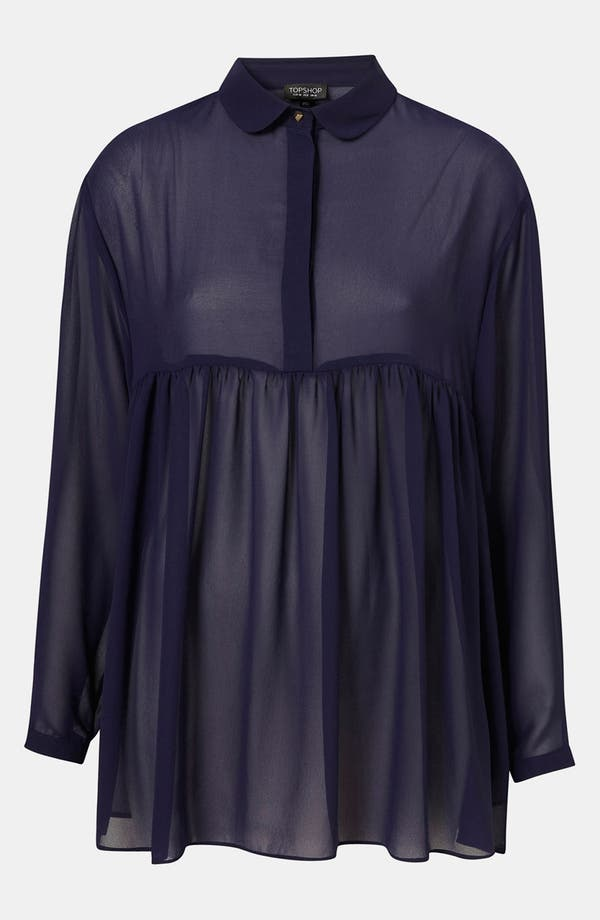 Alternate Image 1 Selected - Topshop Sheer Babydoll Shirt