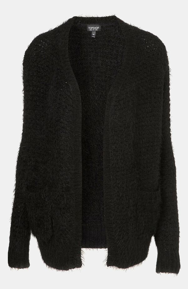 Main Image - Topshop Feather Knit Cardigan