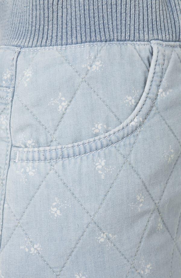 Alternate Image 3  - Topshop Moto Quilted Ditsy Denim Miniskirt