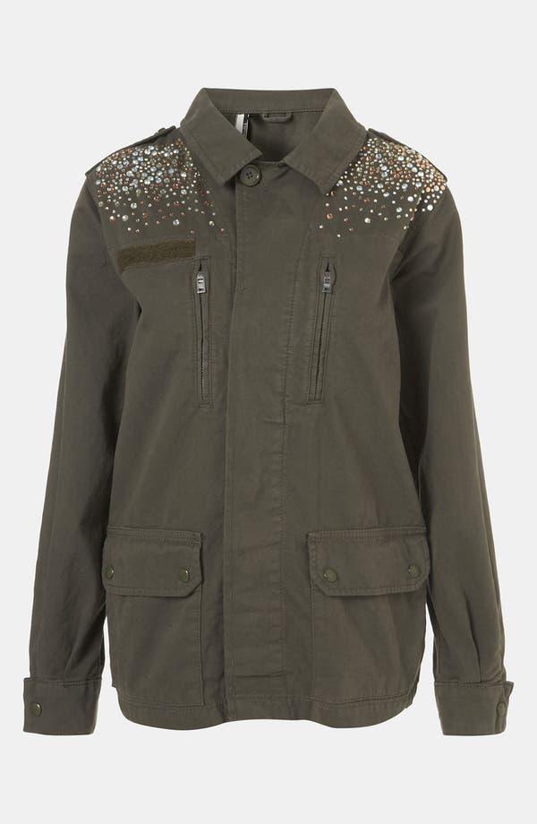 Alternate Image 1 Selected - Topshop Rhinestone Army Jacket