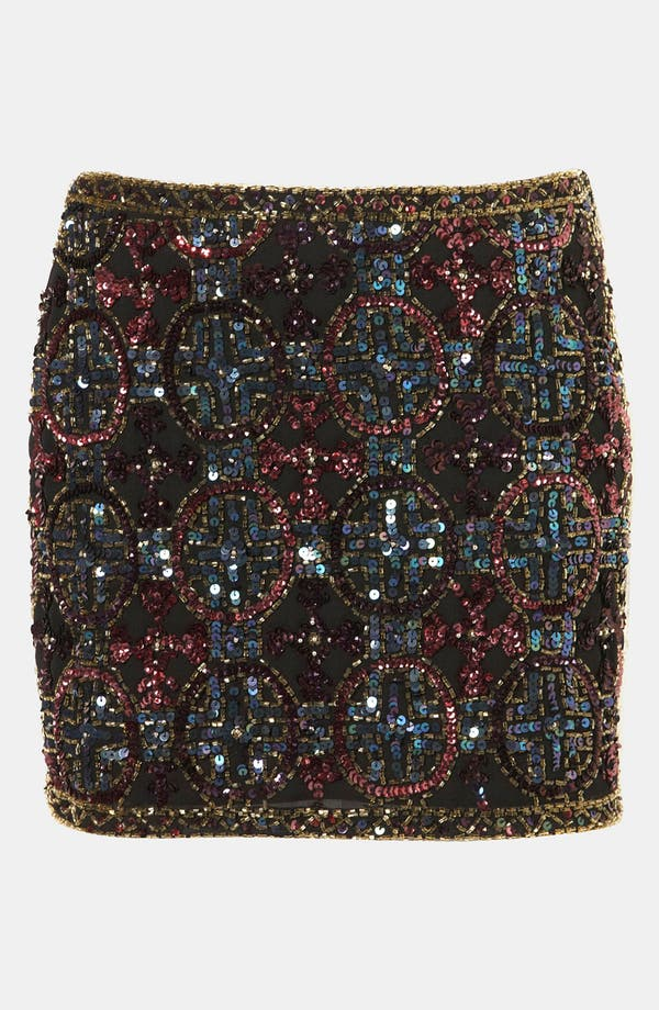 Alternate Image 1 Selected - Topshop Embellished Miniskirt
