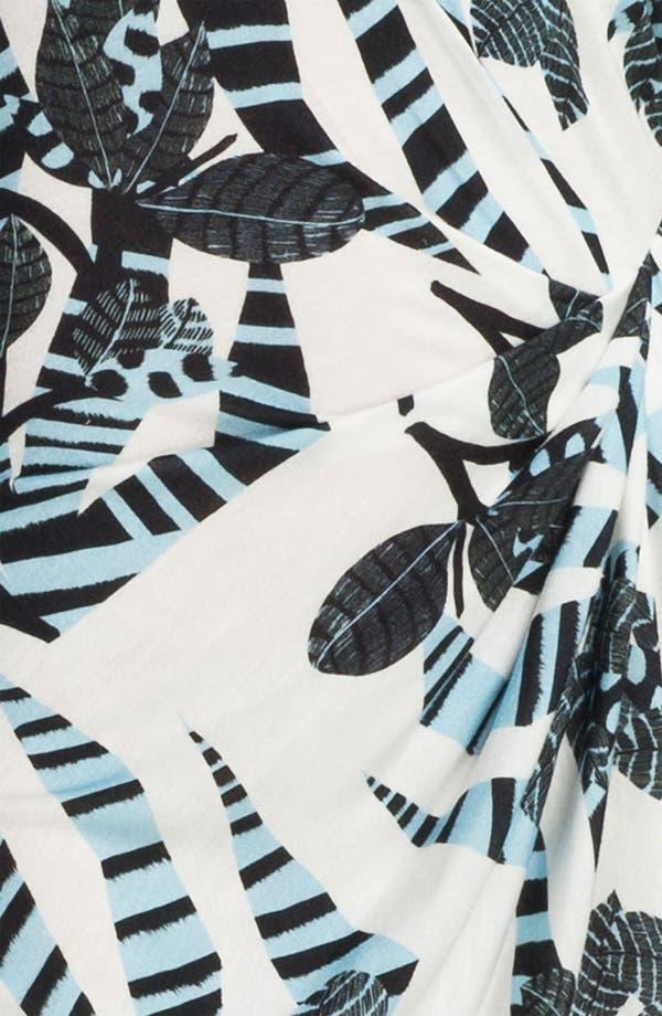 Alternate Image 3  - Thakoon Carbon Copy Gathered Zebra Print Tank Dress