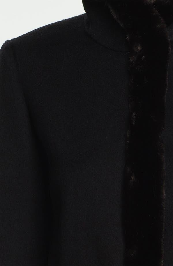 Alternate Image 3  - Ellen Tracy Faux Fur Trim Walking Coat
