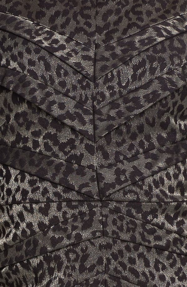 Alternate Image 3  - Adrianna Papell Metallic Leopard Print Sheath Dress